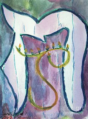 Painting - Hanukkah 6 by Hebrewletters Sl