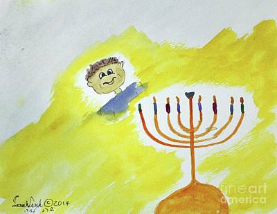 Painting - Hanukkah 7 by Hebrewletters Sl