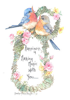 Wall Art - Painting - Happiness Is Making Music With You by Carolyn Shores Wright