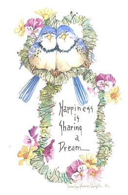 Wall Art - Painting - Happiness Is Sharing A Dream by Carolyn Shores Wright