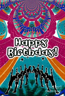 Happy Birthday Celebration Kaleidoscope  Original