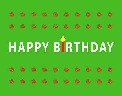 Digital Art - Happy Birthday by Peter Cutler