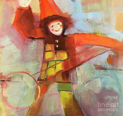 Painting - Happy Clown by Michelle Abrams