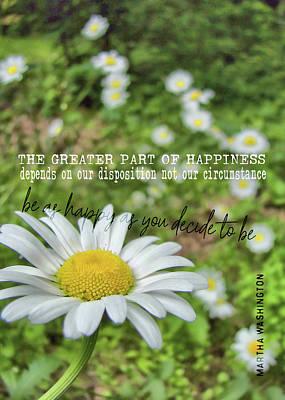 Happy Daisy Quote Art Print
