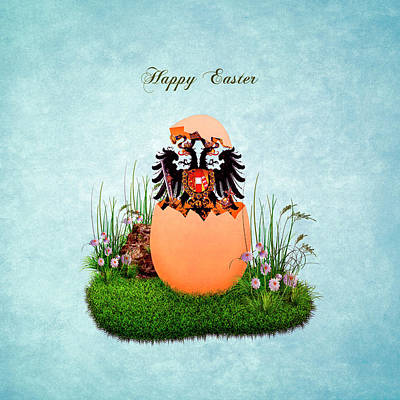 Digital Art - Happy Easter Habsburg Double-headed Eagle by Helga Novelli