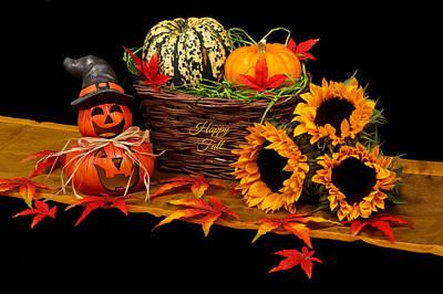 Wall Art - Digital Art - Happy Fall by Cynthia Leaphart