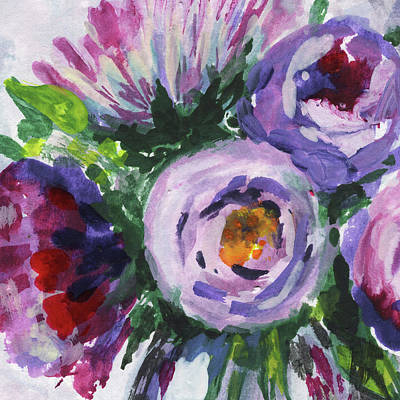 Painting - Happy Flowers Floral Impressionism  by Irina Sztukowski