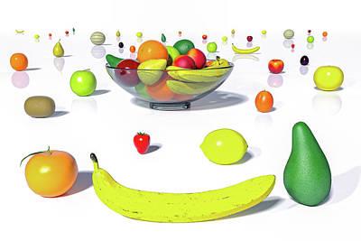 Digital Art - Happy Fruit by Betsy Knapp