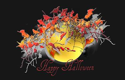 Belinda Landtroop Royalty-Free and Rights-Managed Images - Happy Halloween by Belinda Landtroop