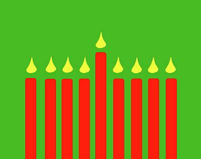 Digital Art - Happy Hanukkah by Peter Cutler