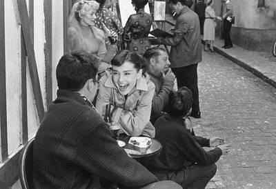 Photograph - Happy Hepburn by Bert Hardy