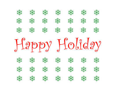 Digital Art - Happy Holiday by Peter Cutler