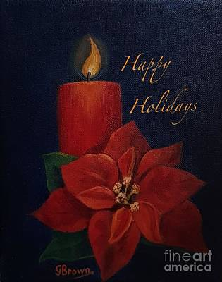 Painting - Happy Holidays by Genevieve Brown