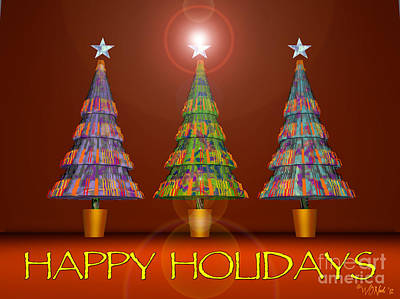 Digital Art - Happy Holidays by Walter Oliver Neal