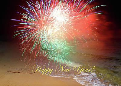 Photograph - Happy New Year By The Seashore In Dreamland by Johanna Hurmerinta