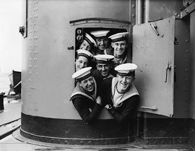 Photograph - Happy Sailors by Fox Photos