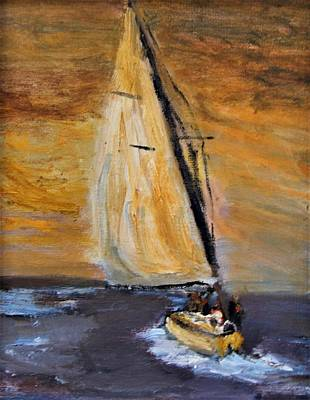 Mixed Media - Happy Sails To You by Michael Helfen