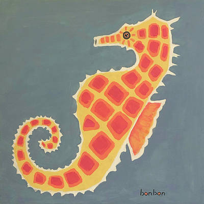 Painting - Happy Seahorse by Bonnie Owen