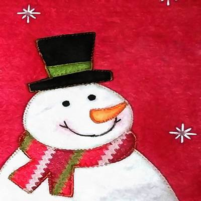 Painting - Happy Snowman Primitive Art by Taiche Acrylic Art
