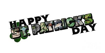 Photograph - Happy St. Patrick's Day Big Letter by Colleen Cornelius
