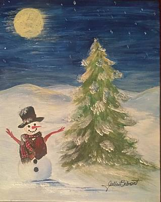 Painting - Happy the Snowman by Julie Belmont