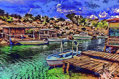 Painting - Harbor A18-133 by Ray Shrewsberry