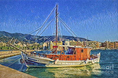 Painting - Harbor A18-37 by Ray Shrewsberry