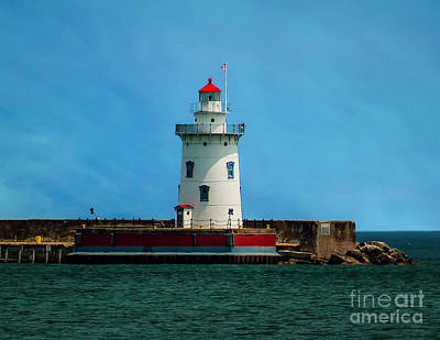 Photograph - Harbor Beach Lighthouse by Nick Zelinsky