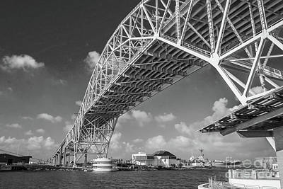 Photograph - Harbor Bridge #2 - Bw by Tony Baca