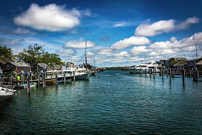 Photograph - Harbor In Nantucket Series 6495 by Carlos Diaz