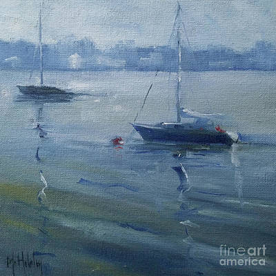 Painting - Harbor Sailboats by Mary Hubley
