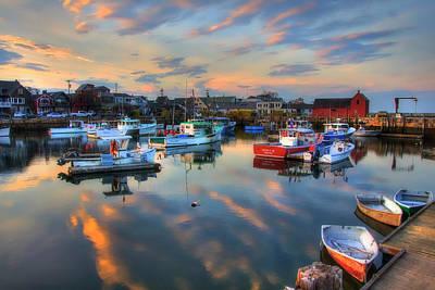 Photograph - Harbor Sunset In Rockport Ma by Joann Vitali