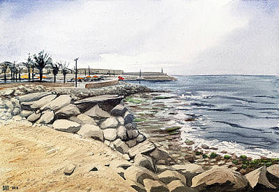 Painting - Harbour In Arguineguin, Gran Canaria by Sami Matilainen