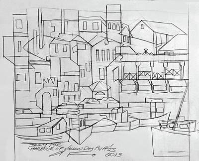 Drawing - Harbour Of Vallon Des Auff'es by Anthony Falbo