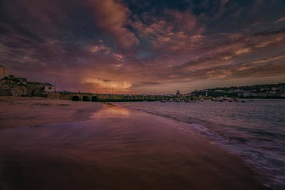 Photograph - Harbour Sunset - St Ives Cornwall by Eddy Kinol