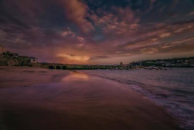 Harbour Sunset - St Ives Cornwall Art Print