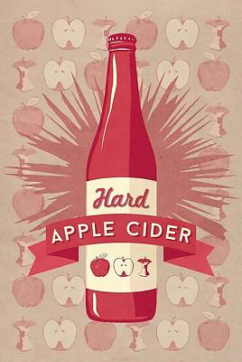 Hard Cider Wall Art - Painting - Hard Apple Cider Wall Art by Lantern Press