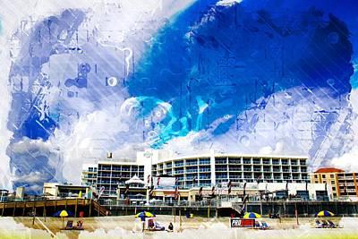 Photograph - Hard Rock Beach Abstract by Alice Gipson