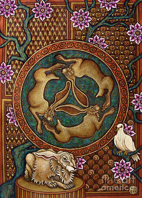 Painting - Hare And Dove by Amy E Fraser