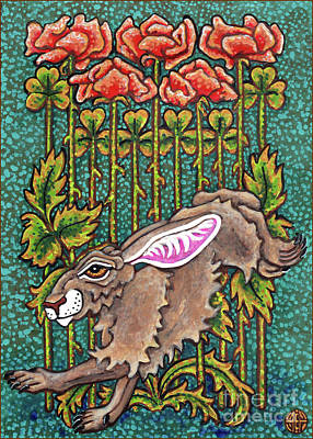 Painting - Hare Design 2 by Amy E Fraser