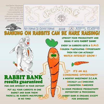 Digital Art - Hare Raising At Rabbit Bank by Dawn Sperry