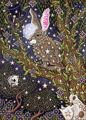 Painting - Hare Tapestree 1 by Amy E Fraser