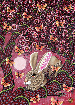 Painting - Hare Tapestree 2 by Amy E Fraser