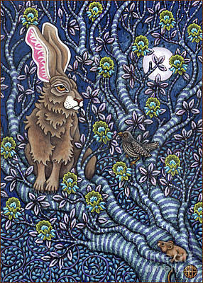 Painting - Hare Tapestree 3 by Amy E Fraser