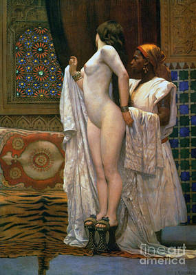 Painting - Harem After The Bath, Circa 1894 by Paul Louis Bouchard