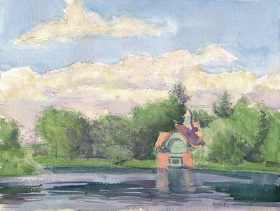 Painting - Harlem Meer by Walter Lynn Mosley