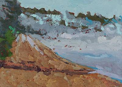 Painting - Harmony Beach Fog And Drizzle by Phil Chadwick
