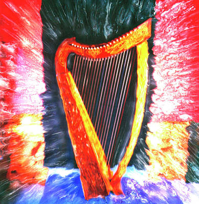 Photograph - Harp by Claire Rydell