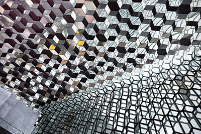 Photograph - Harpa Concert Hall Ceiling #7 by RicardMN Photography