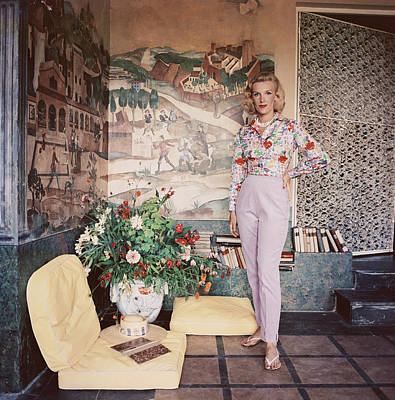 Photograph - Harriet De Rosiere by Slim Aarons